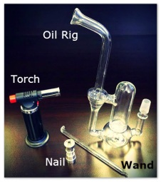 oil rig, torch, wand, nail