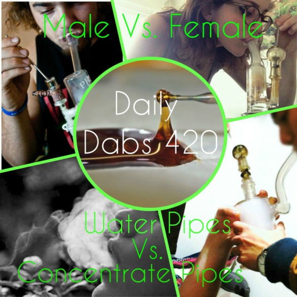 male vs female concentrate pipes